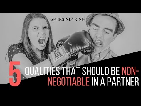 5 non negotiables in dating