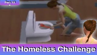 The Sims 4: Homeless Challenge // It Is Stressful (Part 15)