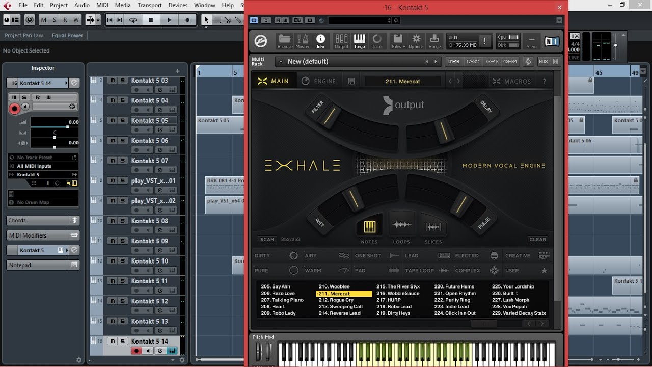 EXHALE from Output, The Amazing Vocal Instrument for NI Kontakt