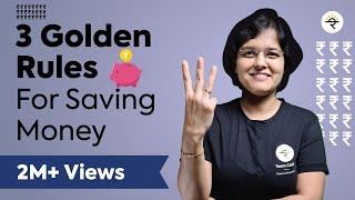 3 Golden Rules f๐r Saving Money in 2021   CA Rachana Ranade