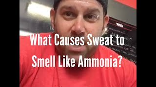 What Causes Sweat to Smell Like Ammonia?
