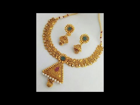 Light Weight Traditional Gold Necklace Designs