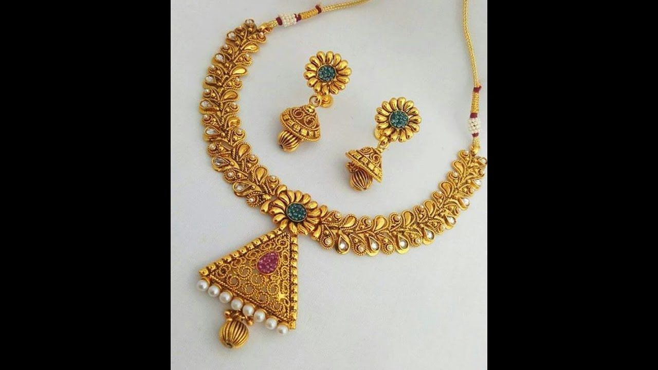 Light Weight Traditional Gold Necklace Designs - YouTube