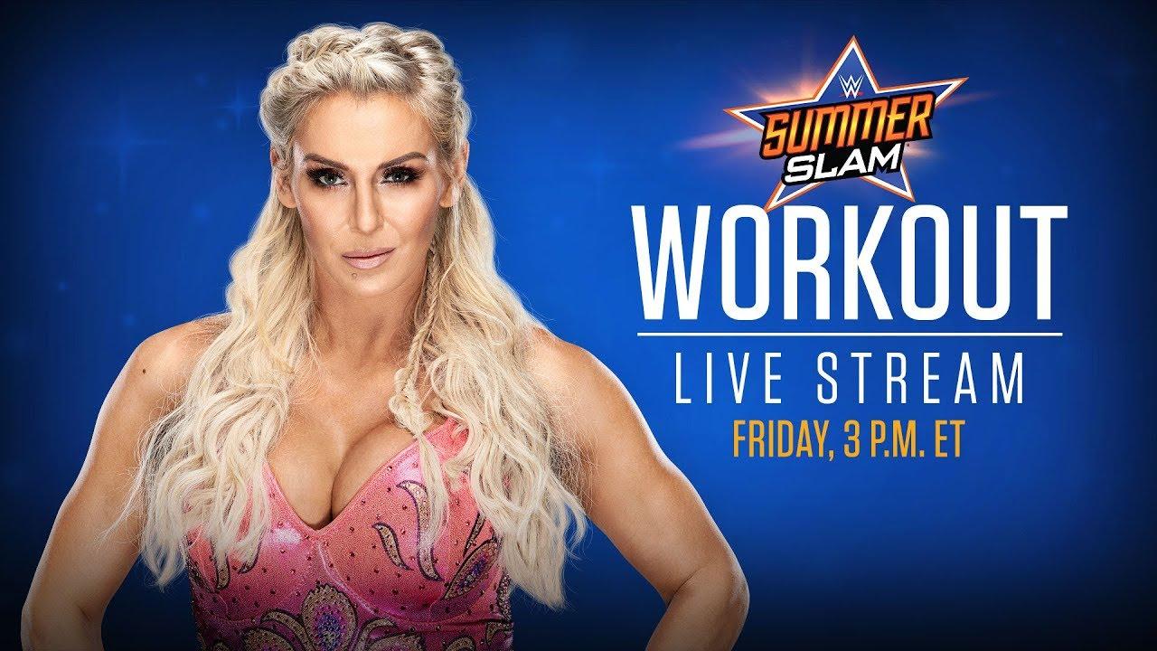 Charlotte Flair trains for Trish Stratus at SummerSlam