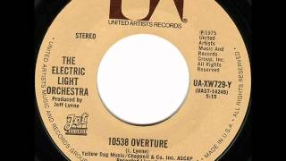 10538 Overture(Live At Long Beach, CA - 1974) by E.L.O. on 1975 United Artists 45.