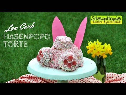 Low Carb Rezepte Für Ostern - Hasenpopo Torte Ohne Zucker Und Mehl I Low Carb Backen Zu Ostern