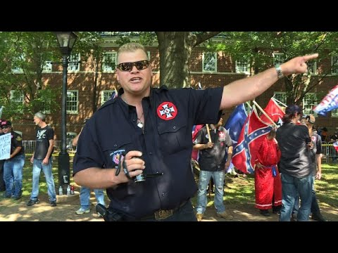 KKK marchers in Virginia town met by counter-protesters