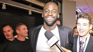 (WARRIORS) Draymond Green After Team Wilder THROWS IN TOWEL vs Tyson Fury (TKO Knockout)