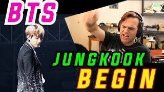 Guitarist's Reaction to BTS - BEGIN / JUNGKOOK Solo / 정국 직캠 // 방탄소년단 //BTS Live // Musician Reacts
