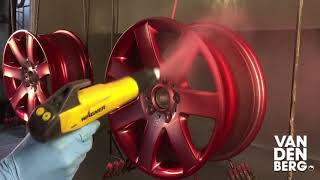 Anodized Red wheels powder coating