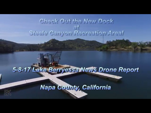 Steele Canyon Rec Area has a New Boat Storage Dock -  LB News Drone Report - 5.8.17