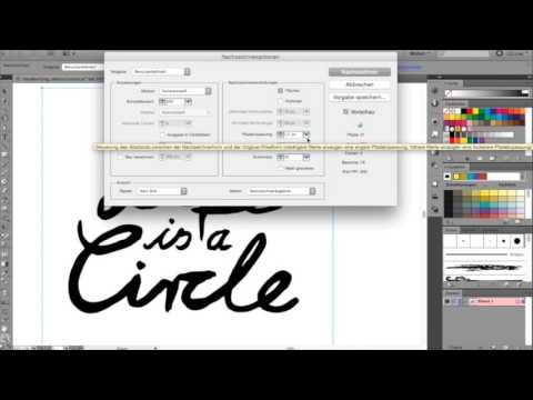 Mit Adobe Illustrator Handschrift vektorisieren