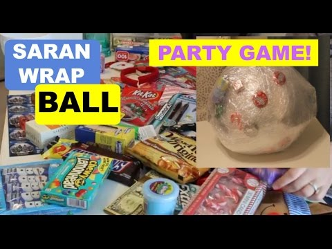 Saran Wrap Ball Party Game