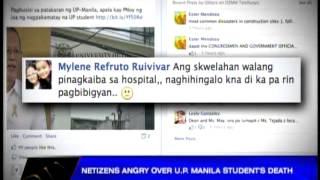 Netizens angry over UP Manila student's death