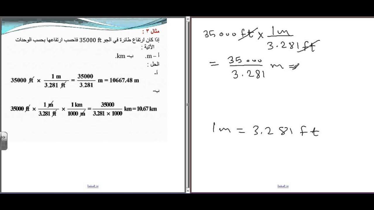 تحليل الوحدات My Physics Classes
