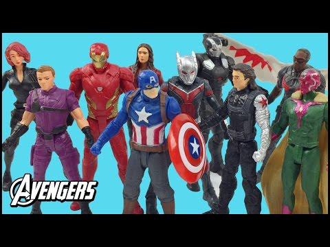 Avengers Superheroes Marvel Captain America Civil War Figures Toy Iron Man Black Widow Unboxing