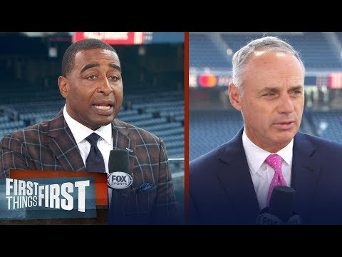 Rob Manfred on league expansion, Red Sox -Yankees Rivalry, MLB All-Star | MLB | FIRST THINGS FIRST
