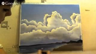 Морской пейзаж - видео с Онлайн встречи Мастер-Класса
