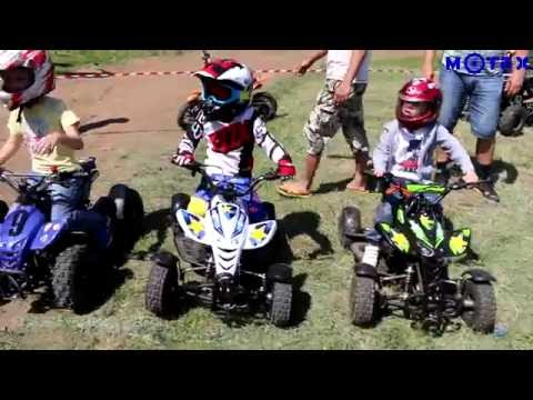 Детские квадроциклы МОТАХ | Гонка на детских квадроциклах МОТАХ Н4 мини