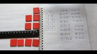 Состав числа 9 и домик. Математика 1 класс.