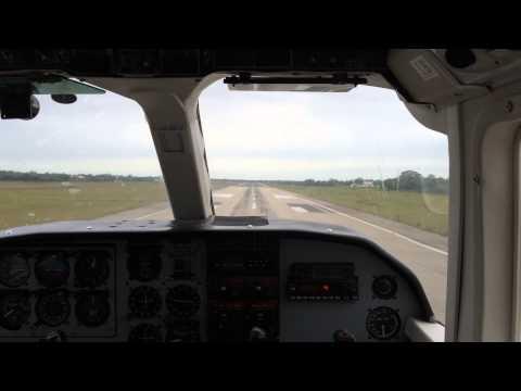 Landing at Philip S.W. Goldson International Airport, Belize in a Britten-Norman Islander