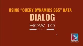 Query Dynamics 365 Data in Dynamics 365 Dialog