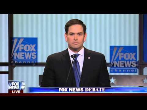 Marco Rubio on 2016 Campaign, Fox news Debate, 3/3/2016