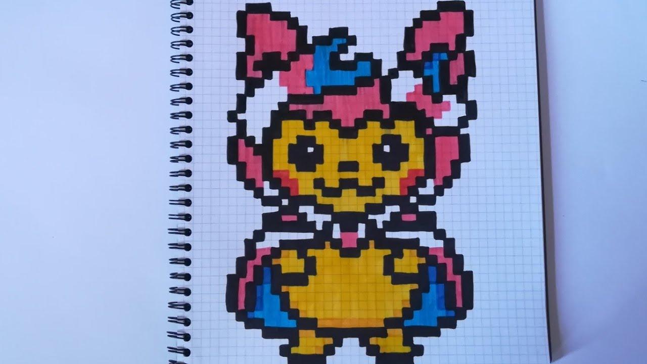 Pixel Art Pokemon Nymphali Facile