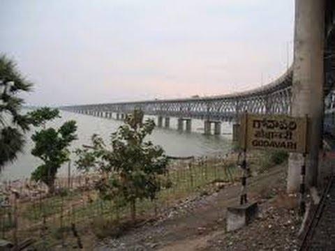 godavari river at rajahmundry railway bridge youtube