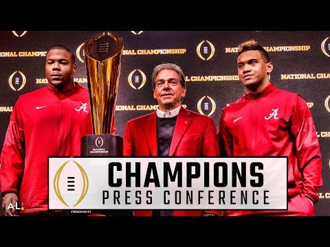 Nick Saban, Tua Tagovailoa, & Da'Ron Payne address media ahead of return to Bama as National Champs