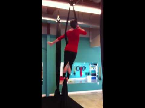 how to set up aerial silks outside