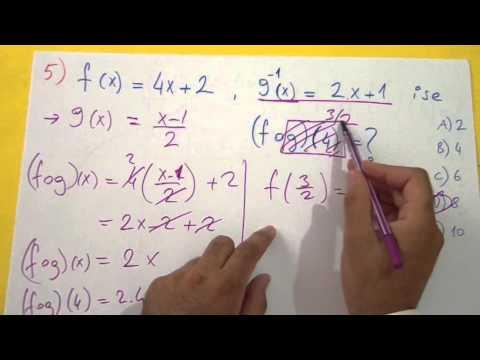 Fonksiyonlar Soru Çözümü Şenol Hoca Matematik
