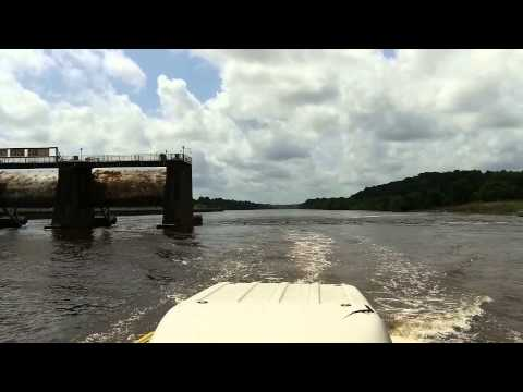 Columbia Lock and Dam. Columbia Louisiana. Dam Survey in May 2015.