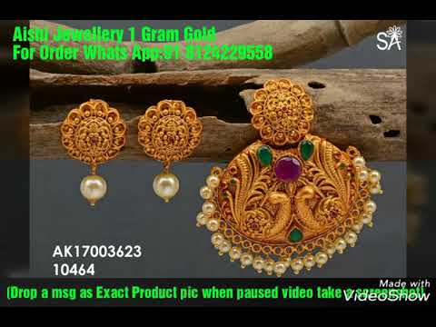 Latest 1 gram gold pendant set with price 1 gram gold jewelry latest 1 gram gold pendant set with price 1 gram gold jewelry with price aloadofball Image collections