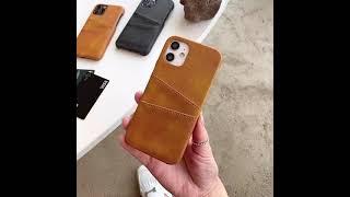 아이폰11 프로 맥스 리얼카드포켓 가죽케이스