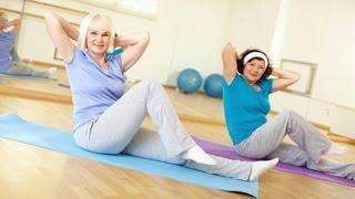 Фитнес для пожилых и Лечебная гимнастика на надувном мате(В старшем возрасте активный здоровый образ жизни важнее, чем когда-либо. Регулярные физические нагрузки..., 2016-07-22T14:30:10.000Z)