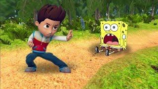 ЧТО ДЕЛАТЬ, ЕСЛИ Райдер - щенячий патруль и Spongebob СПОРЯТ КТО КРУЧЕ? Игра как мультик #95