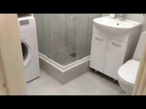 Ванная комната в хрущевке.  Дизайн санузла в однушке с душевой кабинкой
