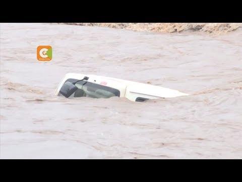 Cars swept away in Nairobi