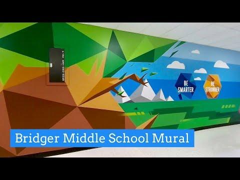 Bridger Middle School Adds Student-Inspired Artwork