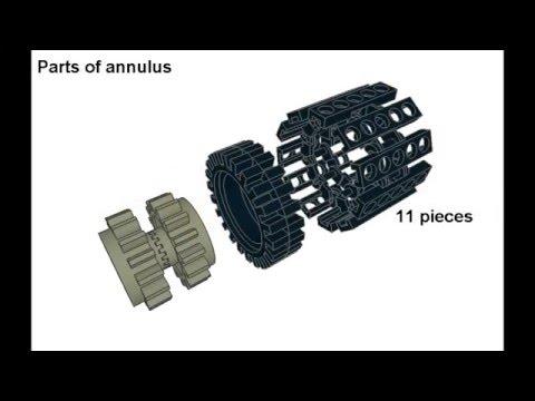 Lego basic planetary gear - YouTube