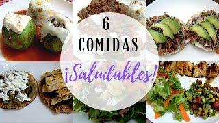6 Comidas o Almuerzos Saludables | Economicas y Sencillas | Erika Blop