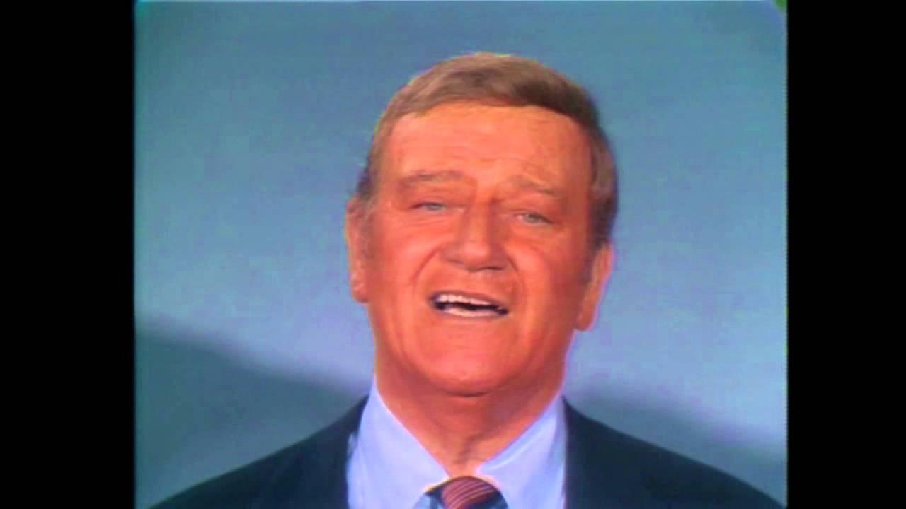 John Wayne & Celebrity Ensemble - God Bless America - YouTube