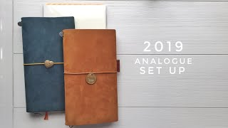 2019 Planner & Journal Set Up | Traveler's Notebook, Midori MD Planner