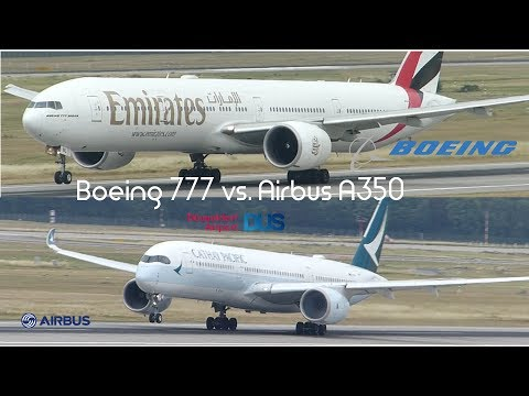 Airbus A350-900 vs Boeing 777-300 Engine Startup, taxi and takeoff