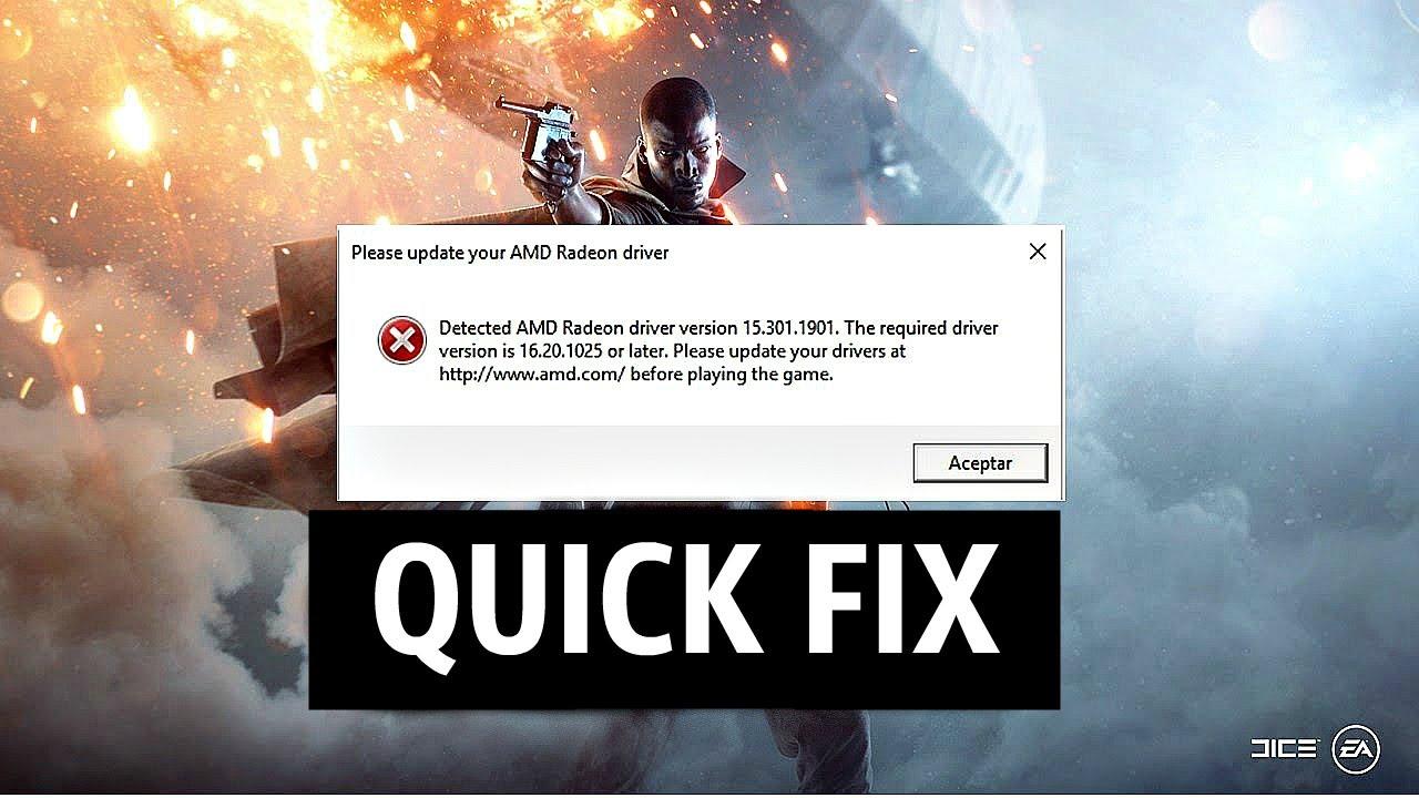 QUICK FIX Battlefield 1 [Please update your Nvidia GeForce driver]