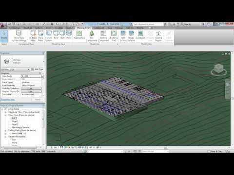 Como hacer una Plataforma de construcción o building pad en Revit; Tutorial Revit - MODELARQ