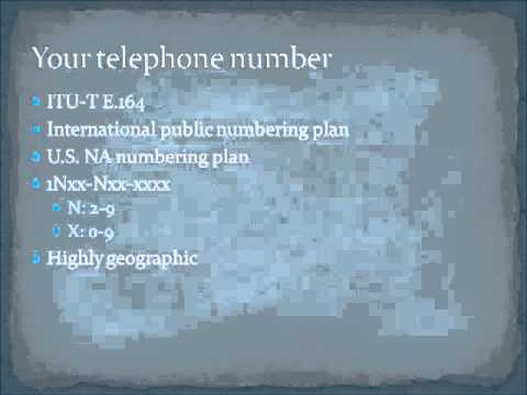 Chapter 2 part 1 - Traditional Telephony
