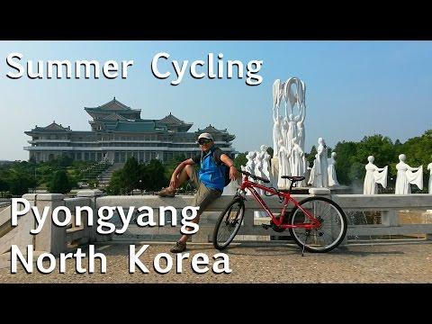 Summer Cycling in Pyongyang North Korea