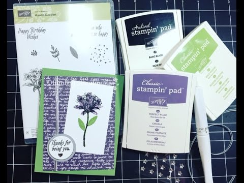 Stampinu0027 Up! Sale A Bration  Avant Garden| December 2016 Customer Thank You  Cards